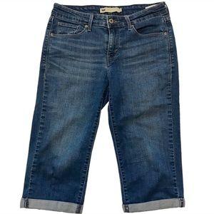 Levi's cropped Capri skinny jeans